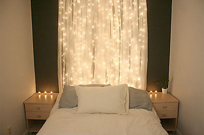 Simple lighting in a bedroom for romance